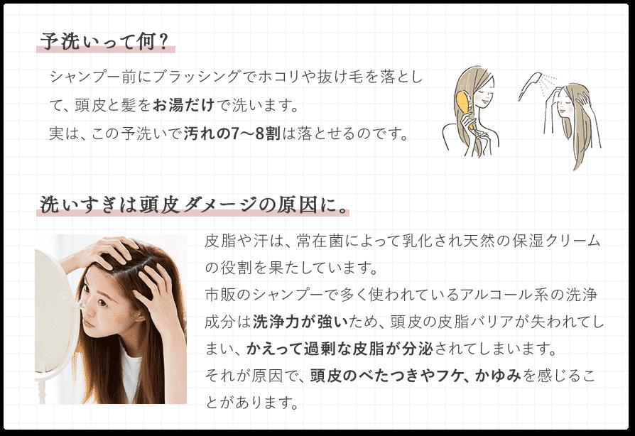 年齢に応じたお肌のケアをするように、シャンプーで頭皮のケアが必要です。